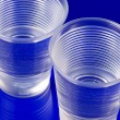 Water in plastic glasses — Stock Photo #2709749
