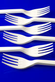 Plastic dishware — Stock Photo