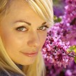 Stock Photo: Woman in blossom