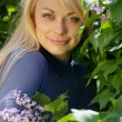 Young blond woman - Stok fotoraf