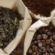Stock Photo: Coffee and tea in bags