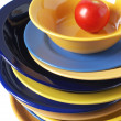 Multicolored dishware — Photo
