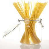 Spaghetti in jar — Stock Photo