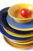 Multicolored dishware — Stock Photo