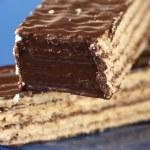 Chocolate wafer close-up — Stock Photo #2786169