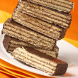 Chocolate wafer close-up — Stock Photo #2786193