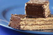 Chocolate wafer close-up — Stock Photo