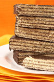 Chocolate wafer — Stock Photo