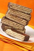 Chocolate wafer close-up — Stock Photo