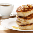 Thick pancakes and coffee — Stock Photo #2800741