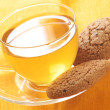 Green tea and oatmeal cookies - Lizenzfreies Foto