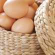 Stock Photo: Brown chicken eggs