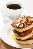 Thick pancakes — Stock Photo