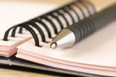 Notepad and pen close-up — Stock Photo