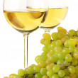 White wine and grape — Stock Photo
