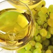 White wine and grape - Stock Photo