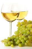 White wine and grape — Stock Photo