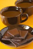 Dark chocolate and coffee — Stock Photo