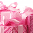 Royalty-Free Stock Photo: Pink gifts close-up