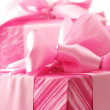 Pink gifts close-up — Stock Photo