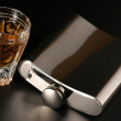 Flask and cognac — Stockfoto