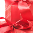 Red gifts close-up — Stock Photo #2847566