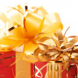Red/gold gifts - Stock Photo