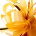 Yellow bow — Stock Photo