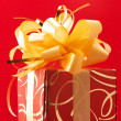 Red/gold gift — Stock Photo #2847703