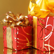 Royalty-Free Stock Photo: Red/gold gifts