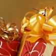 Red/gold gifts - Foto de Stock