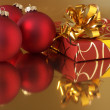 Christmas decorations and gift - Stock Photo