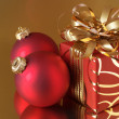 Christmas decorations and gift — Stock Photo #2847840