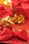 Divers cadeaux rouge — Photo