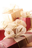 Heap of gifts close-up — Stock Photo