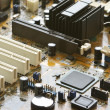 Circuit board close-up - Stock Photo
