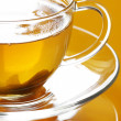 Green tea close-up - Stock Photo