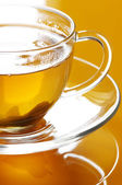 Green tea close-up — Stock Photo