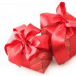 Red gifts — Foto Stock