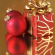 Christmas decorations and gift — Stock fotografie