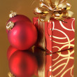 Christmas decorations and gift — Foto de Stock