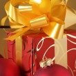 Christmas decorations and gift — Stock Photo #2877862