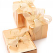 Golden gifts - Stock Photo