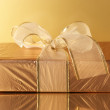 Golden gift — Stock Photo