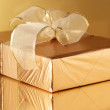 Stock Photo: Golden gift