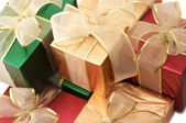 Multicolored gifts — Stock Photo