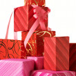 Stack of gifts - Stockfoto