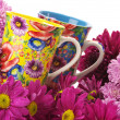 Royalty-Free Stock Photo: Cups in flowers