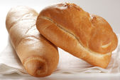 Baguette and bun — Stock Photo