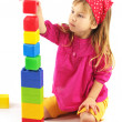 Little girl with bricks — Stock Photo #2939118